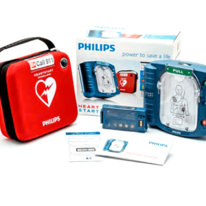 Phlips HeartStart FR3 ECG Bundle w/standard battery - Code Blue